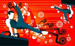 gymnastfolkvektor Royaltyfri Foto