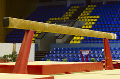 Gymnastic balance beam. Professional gymnastic balance beam in sport palace Stock Images