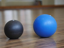 Gymnastic balls Royalty Free Stock Image