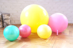 Gymnastic balls for kids Stock Images