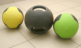Gymnastic balls Stock Images