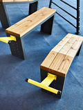 Gymnastic bench. For sports gym Stock Photo