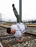 Gymnastic breakdancer Stock Photos