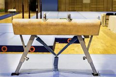 Free Gymnastic Equipment In A Gym Stock Images - 94185474