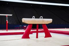 Free Gymnastic Equipment In A Gymnastic Arena In Paris Stock Photography - 128717572