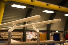Free Gymnastic Equipment In A Gymnastic Center Stock Photography - 121644082