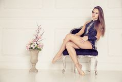 Gymnastic fashion model Royalty Free Stock Photography