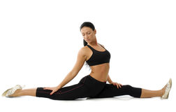 Gymnastic girl Stock Images