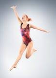 Gymnastic jump Stock Image
