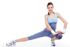 gymnastic pose woman στοκ εικόνες