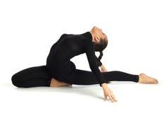 Gymnastic posing on white Royalty Free Stock Photos