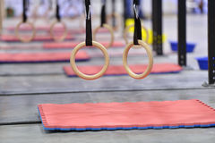 Gymnastic rings Stock Image
