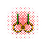 Gymnastic rings icon, comics style Royalty Free Stock Images