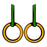 Gymnastic rings icon, icon cartoon Stock Photo
