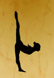 Gymnastic silhouette stock images