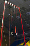 Gymnastic sport rings Stock Images