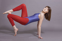 Gymnastic training Stock Images