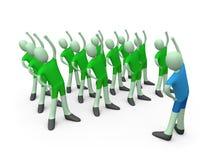 Gymnastics. Computer generated image - Gymnastics Illustration Stock Image