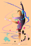 Gymnastics art brush Royalty Free Stock Image
