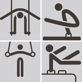 Gymnastics Artistic icons Stock Photography