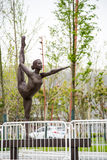 Gymnastics athletes statue Stock Images