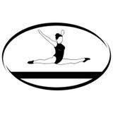 Gymnastics on the balance beam Stock Photo