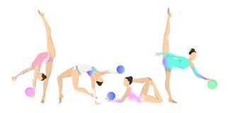 Gymnastics with ball set. Stock Photo