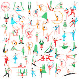 Gymnastics And Ballet Big Set Stock Photo