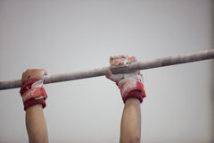 Gymnastics Bar Male Hands  Stock Images