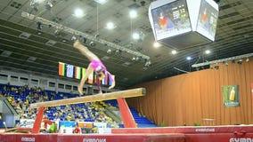 Gymnastics competition, Ukraine Nation CUP (Stella Zakharova Cup) 2015, stock video footage