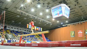 Gymnastics competition, Ukraine Nation CUP (Stella Zakharova Cup) 2015, stock video