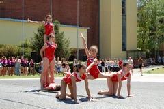 Gymnastics event in Novi Sad Royalty Free Stock Photos