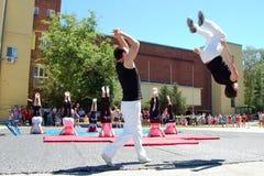 Gymnastics event in Novi Sad Stock Image