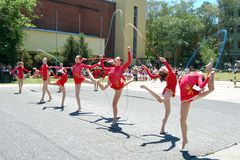 Gymnastics event in Novi Sad Stock Photos