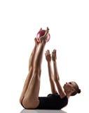 Gymnastics exercise with ball Stock Photos