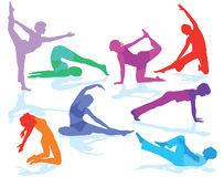 Gymnastics figures and fitness Royalty Free Stock Image
