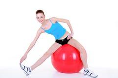 Gymnastics with fitball Stock Photos