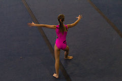 Gymnastics Girl Floor Dance Style Royalty Free Stock Images