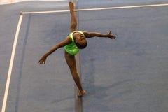 Gymnastics Girl Floor Dance Style Stock Photo