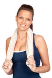 Gymnastics girl with a towel Stock Photography