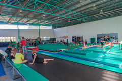 Gymnastics Gym Teaching Pupils Royalty Free Stock Photo