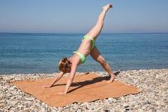 Gymnastics for health Royalty Free Stock Photography