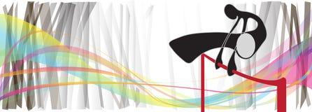 Gymnastics hight jumping rainbow Stock Image