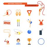 Gymnastics Icon Flat Royalty Free Stock Image