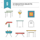 Gymnastics Icons Royalty Free Stock Image