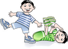 Gymnastics kids. Sporty toddler funny Stock Image