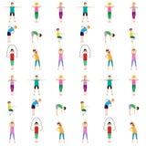 Gymnastics kids seamless pattern Royalty Free Stock Photography