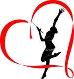 Gymnastics logo Stock Image