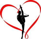 Gymnastics logo Royalty Free Stock Photos