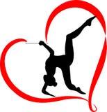 Gymnastics logo Royalty Free Stock Photo